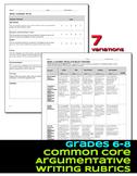 Argument Writing Rubrics Grades 6-8 Common Core