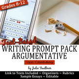 Argumentative Prompt Pack Cyberbullying, Text-Based, CCSS,