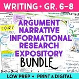 Argumentative, Narrative, Informative, Research Writing, a