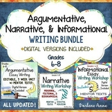 Argumentative, Narrative, and Informational Writing Worksh