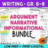 Argumentative, Narrative, and Informational Writing Worksh