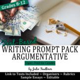 Prompt Pack Argumentative {Paid for Grades} Mentor Essay,