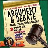 Argumentative and Debate Topics, Handouts, Guidelines