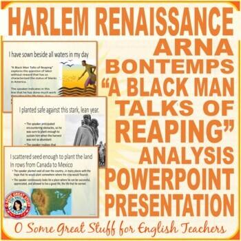 "Arna Bontemps ""A Black Man Talks of Reaping"" Power Point"