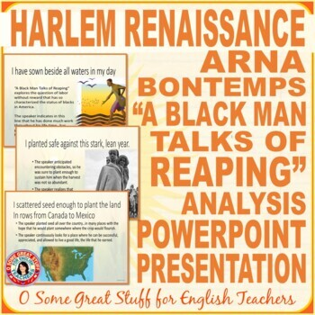 "Black History Arna Bontemps ""A Black Man Talks of Reaping"""