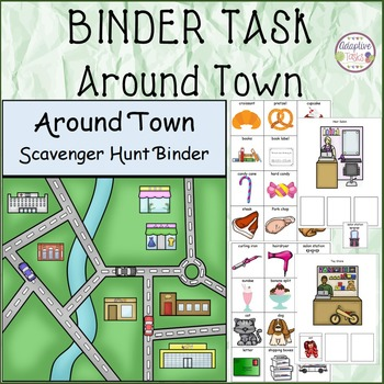 Around Town Scavenger Hunt Binder