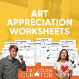 Art Appreciation Printable Worksheet Bundle - 20 Ready-to-