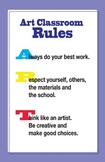 Art Classroom Rules Poster