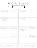 Art Room Bingo Activity / Game / Icebreaker