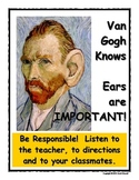 Art Room Rules Poster - Listening Ears