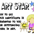 'Art Star' Certificate Freebie