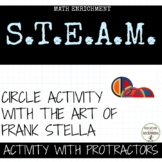 Protractor and circles: Art and Mathematics with Frank Stella