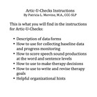 Artic-U-Checks Directions