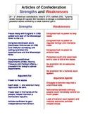 Articles of Confederation T-Chart