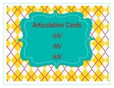 Articulation Cards- sh th ch