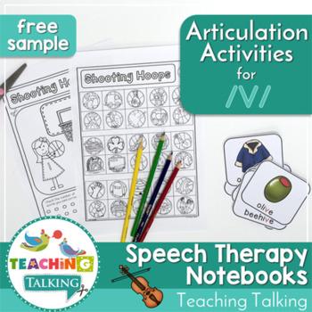 Articulation Notebooks for /v/ (FREE Sample!)