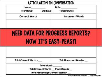 Articulation in Conversation Data Sheet Revised Sept 2014