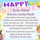 Assemble birthday cakes while learning dolch words - 170 p