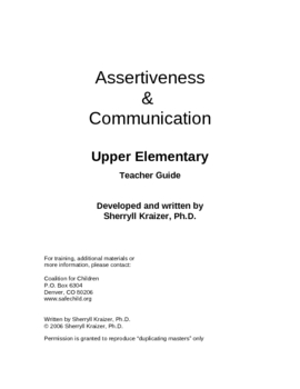 Assertiveness & Communication by Sherryll Kraizer, PhD