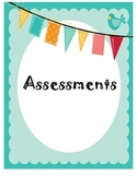 Assessment Checklists for Reading Binder
