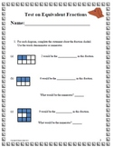 Assessment Equivalent Fraction Grades 3-5 Includes Key/solutions