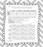 Assessment Sheet M-Class Math Kindergarten