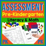 Assessment for Prekindergarten {Literacy and Math} End-of-