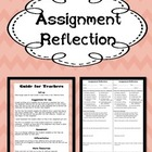 Assignment Reflection Organizer