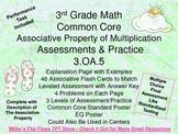 Associative Property of Multiplication - 3.OA.5 - Common C
