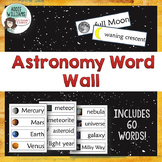 Astronomy / Space Word Wall