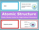 Atomic Structure: Printable Flash (Study) Cards to study f