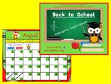 August 2015 Kindergarten Calendar for ActivBoard