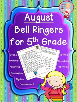 August Bell Ringers for 5th Grade