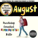 August NO-PREP Homework Packet: Kindergarten