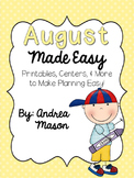 August Made Easy!  Printables, Centers, and More to Make P