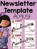 August Newsletter Templates {Editable} TRY IT BEFORE YOU BUY IT