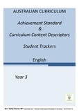 Australian Curriculum English Achievement Standard Tracker