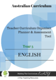 Australian Curriculum Organiser English (editable) - Y5