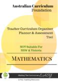 Australian Curriculum Maths Foundation (editable)