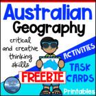 Australian Geography FREEBIE