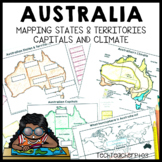 Australian Geography - Worksheets and Activities Maps Prin