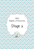 NSW Syllabus Stage 2 Register of Outcomes