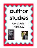 Author Studies: David A. Adler and Allen Say