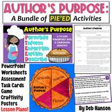 Author's Purpose PIE'ED {MEGA-BUNDLE}: PPT, task cards, wo