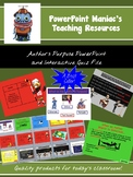 Author's Purpose Powerpoint Lesson and Interactive Notebook File