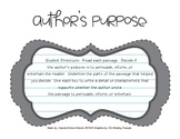 Author's Purpose - Practice Passages