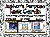 Author's Purpose Task Cards with Cooperative Learning Acti