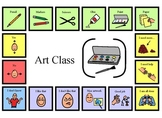 Autism:  Visuals, Art Topic Board, Special Education, Spee