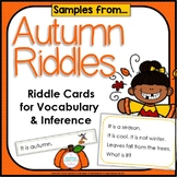 Inference, Key Details, and Vocabulary ~ Autumn Inference
