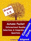 Autumn Informational Reading Selections and Questions for
